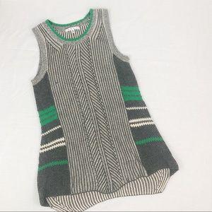 CAbi Sleeveless Sweater Gray Size Small